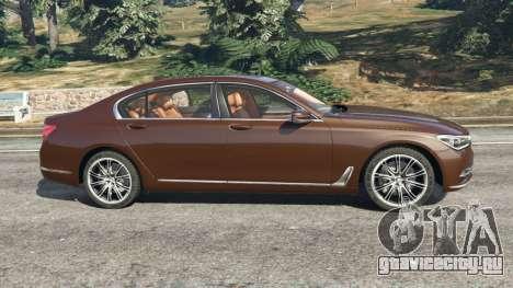 BMW 750Li 2016 v1.1 для GTA 5 вид слева