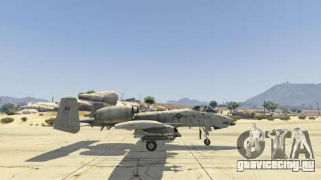 A-10A Thunderbolt II 1.1 для GTA 5 пятый скриншот