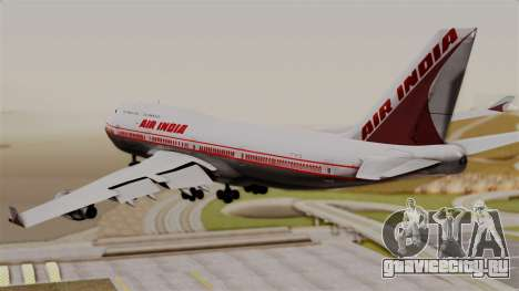 Boeing 747-400 Air India Old для GTA San Andreas вид слева