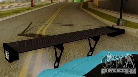 Lamborghini Aventador LB Performance для GTA San Andreas вид сзади