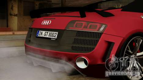 Audi R8 GT Spyder 2012 для GTA San Andreas вид сзади