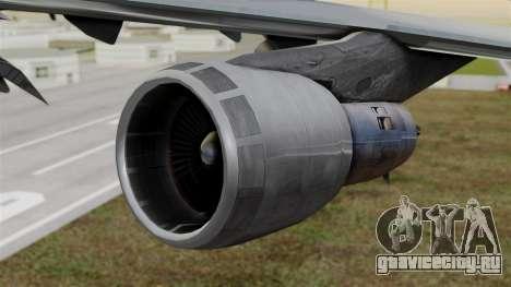 Boeing 747 Singapore Cargo для GTA San Andreas вид справа