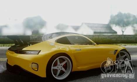 Mercedes-Benz AMG GT для GTA San Andreas вид сзади слева
