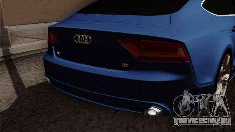 Audi A7 Sportback 2009 для GTA San Andreas вид сзади