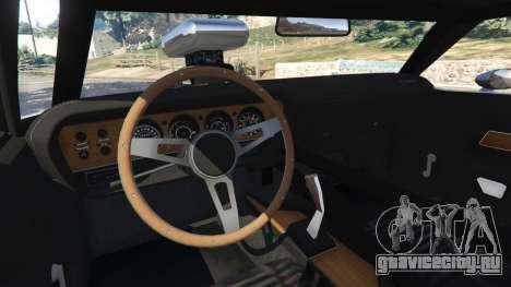 Dodge Challenger RT 440 1970 v0.9 [Beta] для GTA 5 вид сзади справа