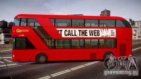 Wrightbus New Routemaster Go Ahead London для GTA 4 вид слева
