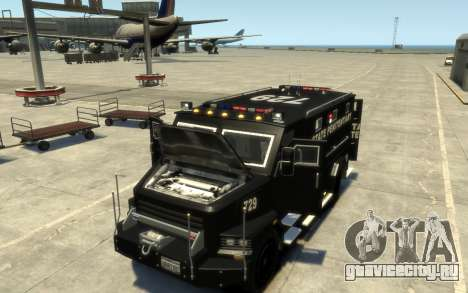 International 4000-Series SWAT Van для GTA 4 вид изнутри
