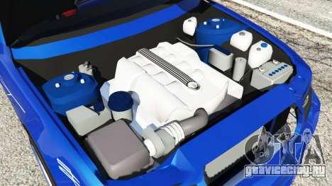 BMW B7 (E65) Alpina для GTA 5 вид сзади справа
