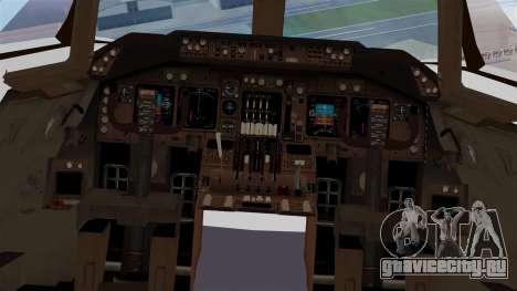 Boeing 747 British Airlines (Landor) для GTA San Andreas вид изнутри