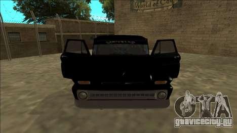 Chevrolet C10 Drift Monster Energy для GTA San Andreas вид изнутри