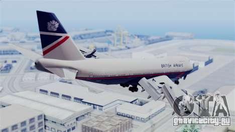 Boeing 747 British Airlines (Landor) для GTA San Andreas вид слева