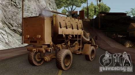 MRAP Buffel from CoD Black Ops 2 для GTA San Andreas вид слева
