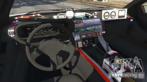 DeLorean DMC-12 Back To The Future v0.3 для GTA 5 вид сзади справа