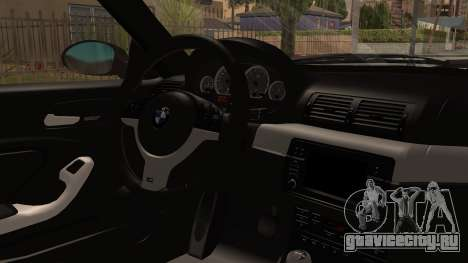 BMW M3 E46 2005 Stock для GTA San Andreas вид справа