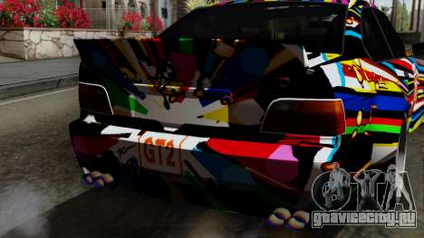 BMW M3 E36 79 для GTA San Andreas вид сзади