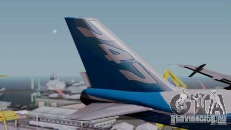 Boeing 747-400 Dreamliner Livery для GTA San Andreas вид сзади слева