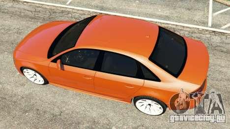 Audi S4 для GTA 5 вид сзади