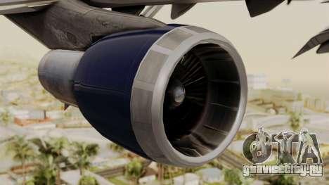 Boeing 747 United Airlines для GTA San Andreas вид справа