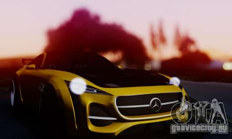 Mercedes-Benz AMG GT для GTA San Andreas вид сзади