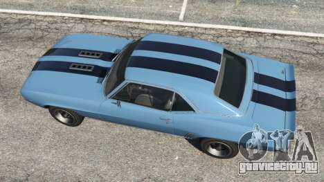 Chevrolet Camaro SS 350 1969 для GTA 5 вид сзади