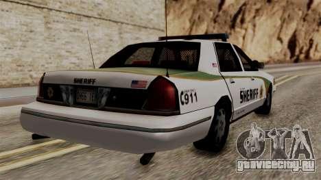 Ford Crown Victoria LP v2 Sheriff New для GTA San Andreas вид слева