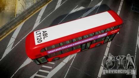 Wrightbus New Routemaster Abellio London для GTA 4 вид справа