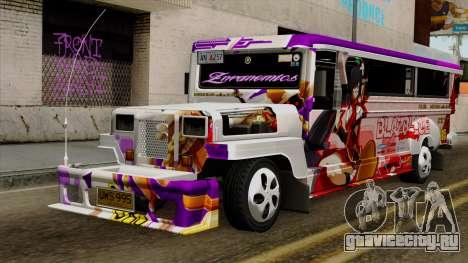 Znranomics - Costum Jeepney (Gabshop) для GTA San Andreas