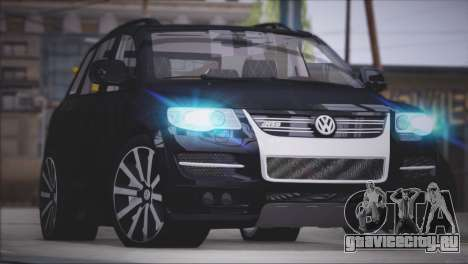Volkswagen Touareg R50 2008 для GTA San Andreas вид сзади