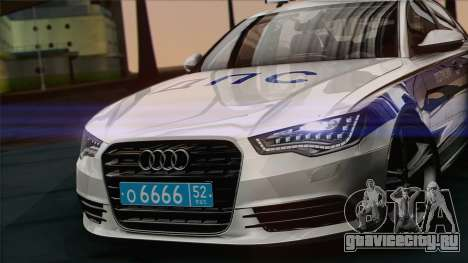 Audi A6 ДПС для GTA San Andreas вид сзади слева