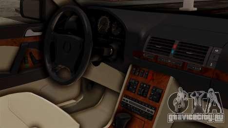 Mercedes-Benz W140 500SE 1992 для GTA San Andreas вид справа
