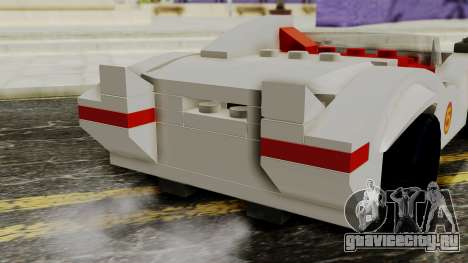 Lego Mach 5 для GTA San Andreas вид сзади
