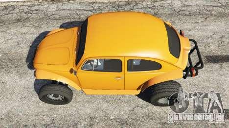 Volkswagen Beetle Baja Bug [Beta] для GTA 5 вид сзади