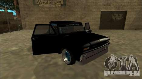 Chevrolet C10 Drift Monster Energy для GTA San Andreas вид сбоку