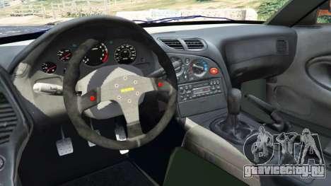 Mazda RX-7 Veilside Fortune v0.1 для GTA 5 вид сзади справа