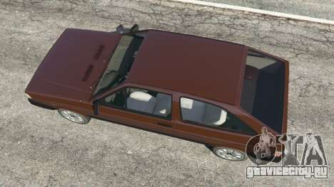 Volkswagen Gol GL 1.8 для GTA 5 вид сзади