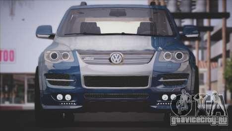 Volkswagen Touareg R50 2008 для GTA San Andreas вид сзади слева
