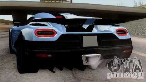 Koenigsegg Agera R 2014 Carbon Wheels для GTA San Andreas колёса