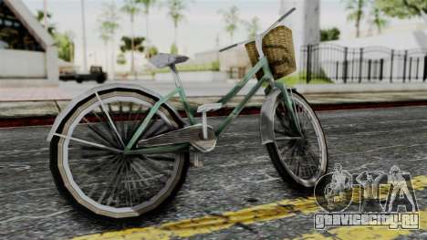 Olad Bike from Bully для GTA San Andreas вид слева