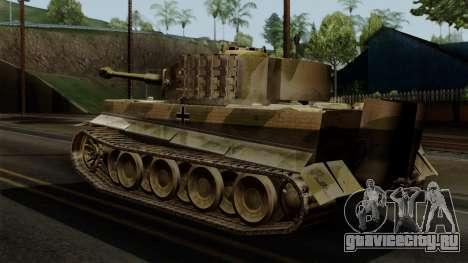 Panzerkampfwagen VI Ausf. E Tiger No Interior для GTA San Andreas вид слева