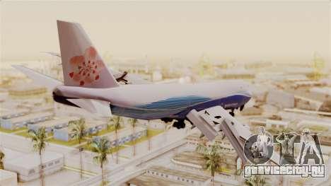 Boeing 747-200 China Airlines Dreamliner для GTA San Andreas вид слева
