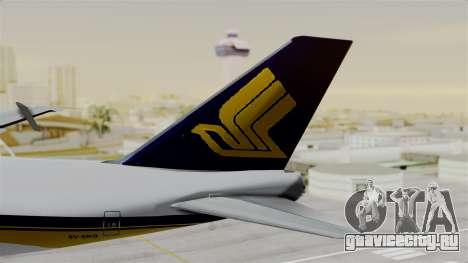 Boeing 747 Singapore Cargo для GTA San Andreas вид сзади слева