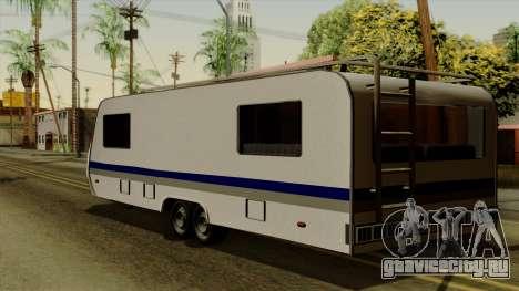 Camper Trailer для GTA San Andreas вид слева