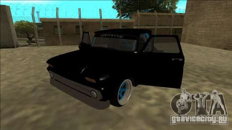 Chevrolet C10 Drift Monster Energy для GTA San Andreas вид сзади