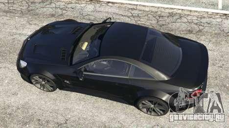 Mercedes-Benz SL 65 AMG Black Series для GTA 5 вид сзади