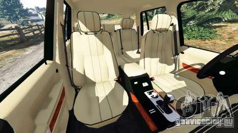 Range Rover Supercharged для GTA 5 руль и приборная панель