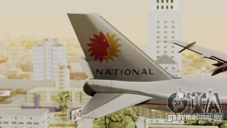 Boeing 747-100 National Airlines для GTA San Andreas вид сзади слева