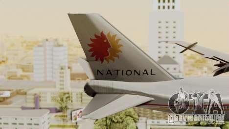 Boeing 747-100 National Airlines для GTA San Andreas вид сзади слева