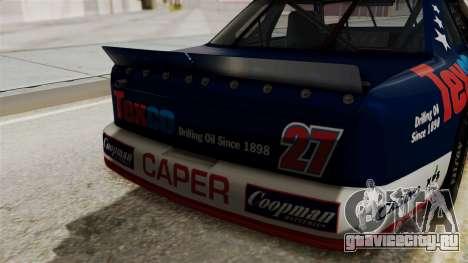 Chevrolet Lumina NASCAR 1992 для GTA San Andreas вид сзади