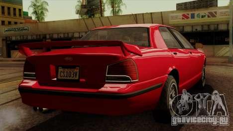 GTA 5 Vapid Stanier II для GTA San Andreas вид слева