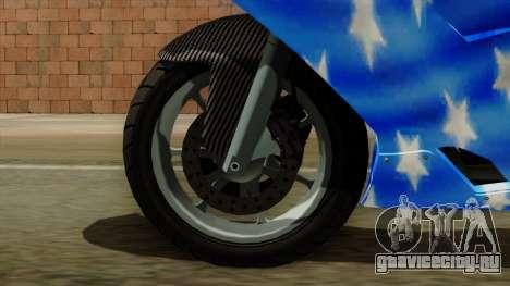 Bati America Motorcycle для GTA San Andreas вид сзади слева